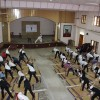 Students Performing Yoga